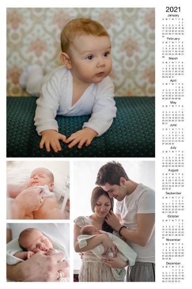 Calendar 20x30 Adhesive Poster, Home Décor -2021 Calendar Right