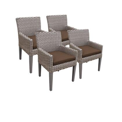 TKC297b-DC-2x-C-COCOA 4 Oasis Dining Chairs With Arms with 2 Covers: Grey and