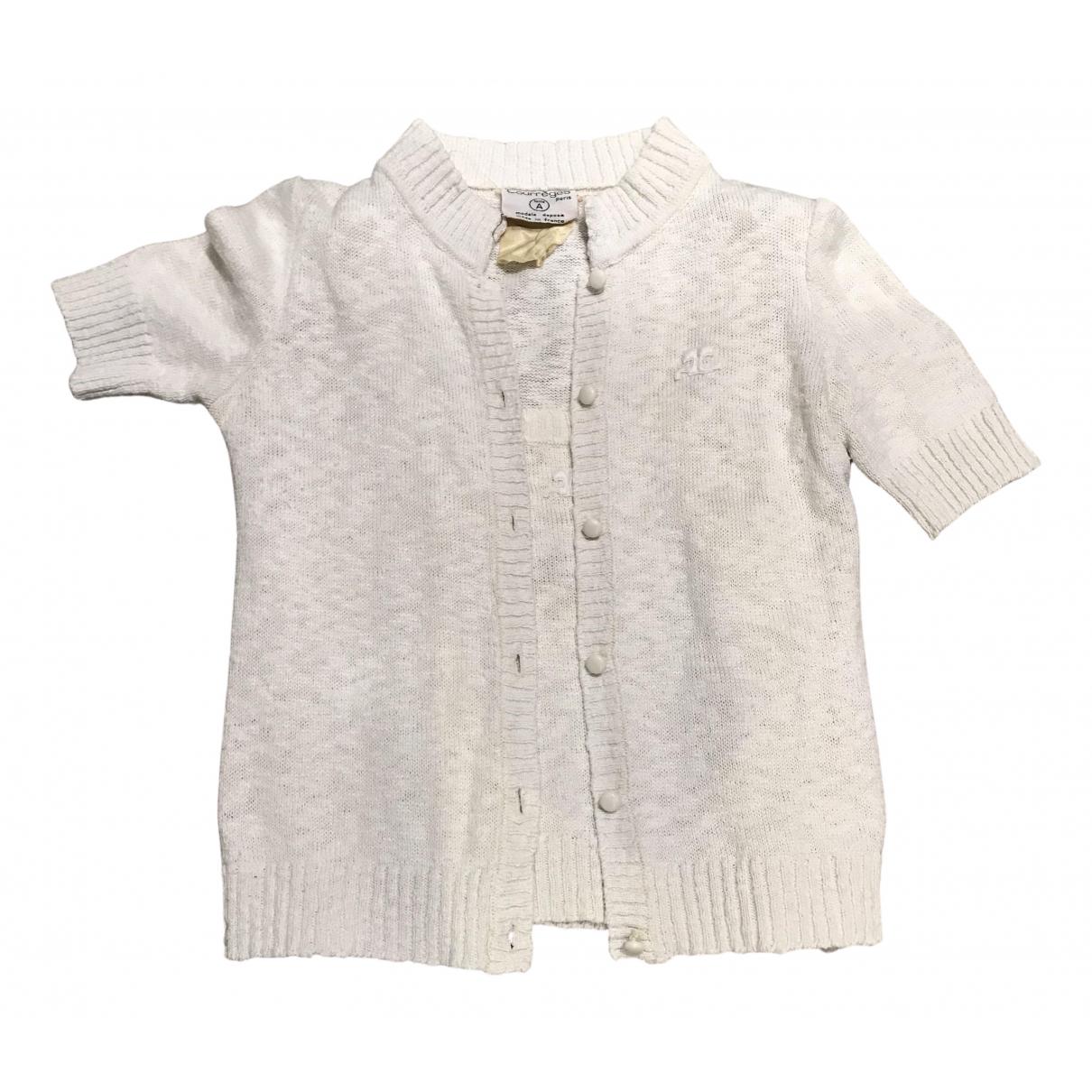 Courreges - Pull   pour femme en coton - blanc