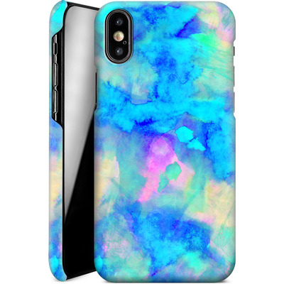 Apple iPhone X Smartphone Huelle - Electrify Ice Blue von Amy Sia