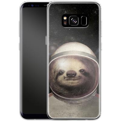 Samsung Galaxy S8 Silikon Handyhuelle - Space Sloth von Eric Fan
