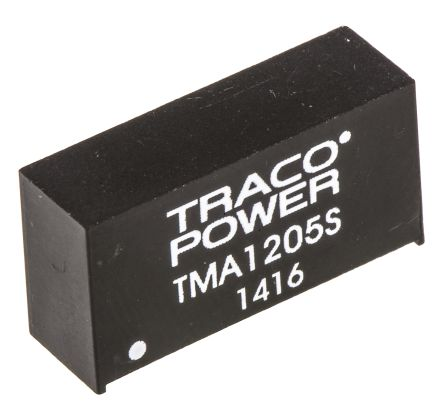 TRACOPOWER TMA 1W Isolated DC-DC Converter Through Hole, Voltage in 10.8 → 13.2 V dc, Voltage out 5V dc