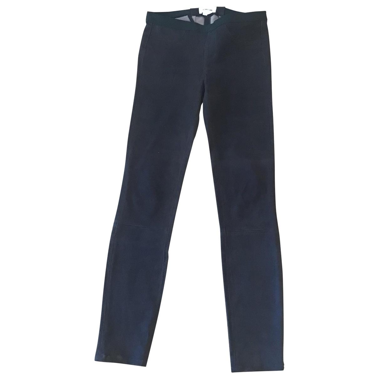 Pantalon en Cuero Violeta Helmut Lang