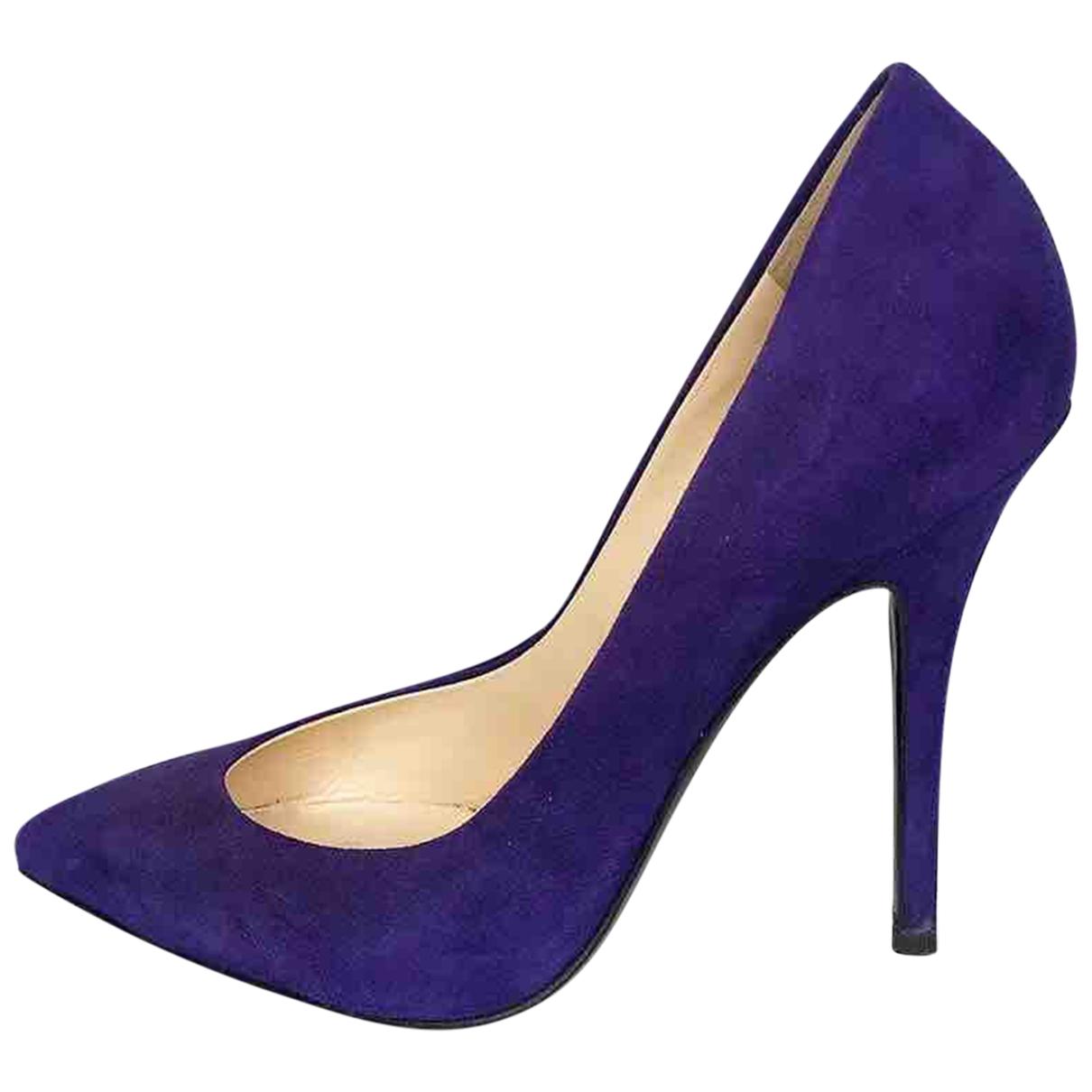 Giuseppe Zanotti - Escarpins   pour femme en suede - violet
