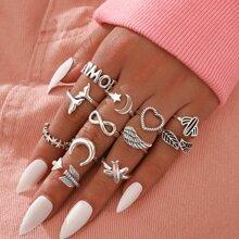 12 Stuecke Minimalistischer Ring