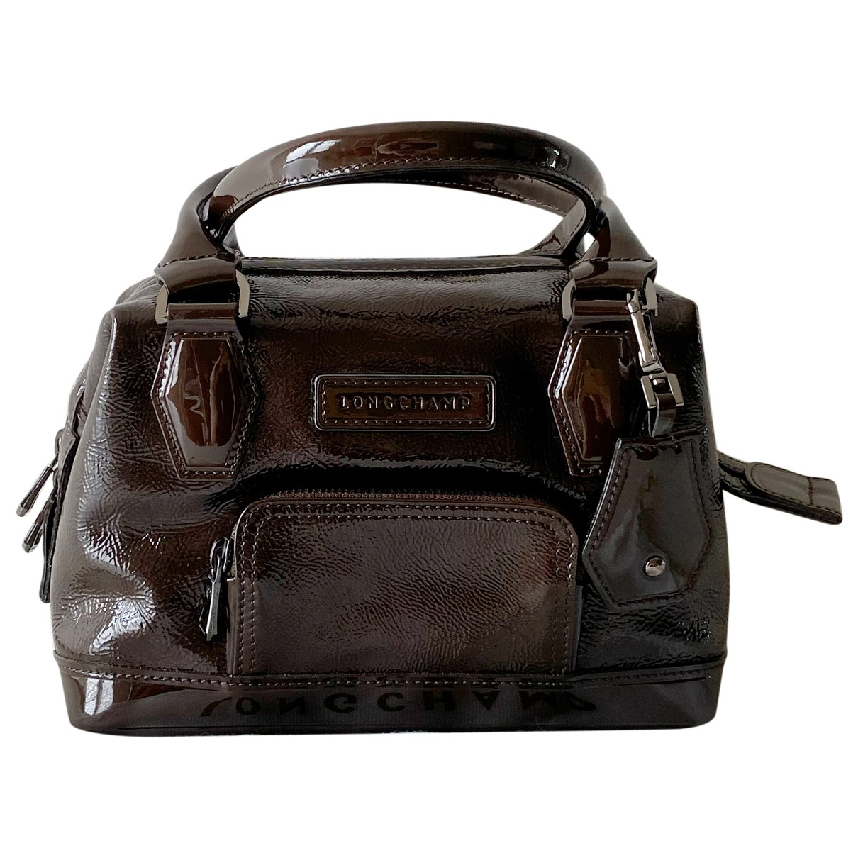 Longchamp Légende Brown Patent leather handbag for Women N