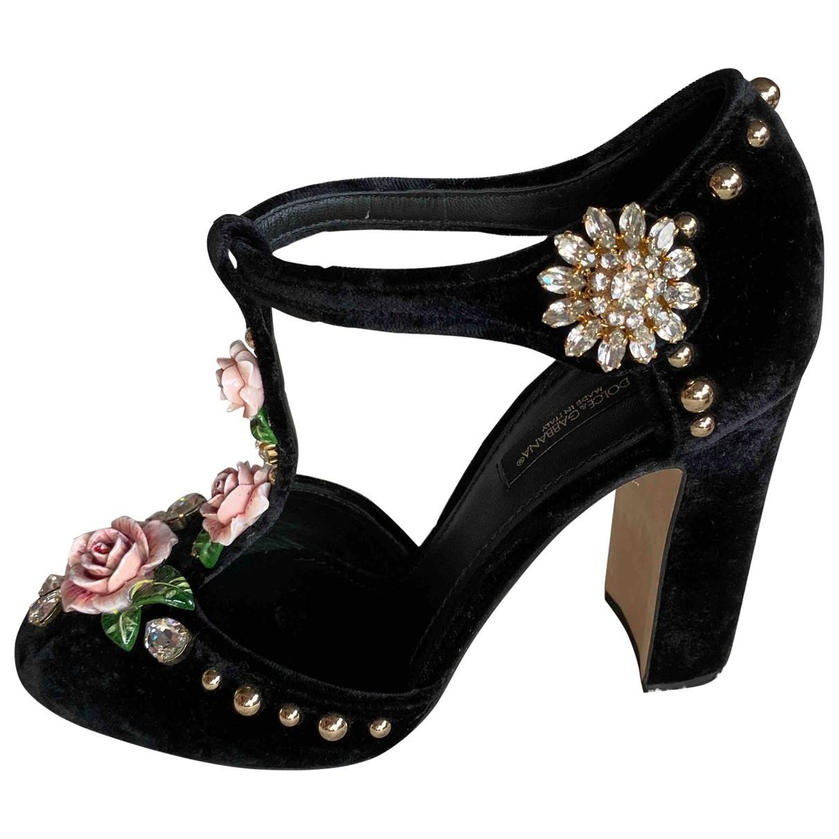 Tacones de Terciopelo Dolce & Gabbana