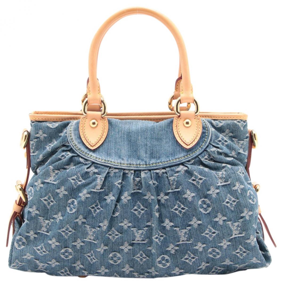 Louis Vuitton - Sac a main   pour femme en denim - bleu