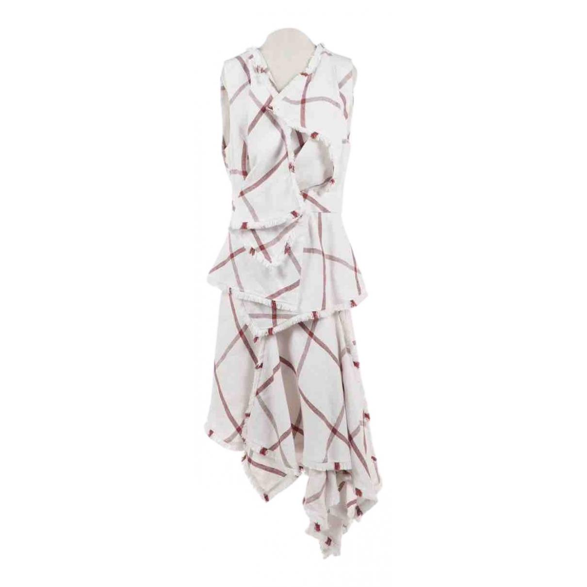 Acler \N Kleid in  Weiss Leinen