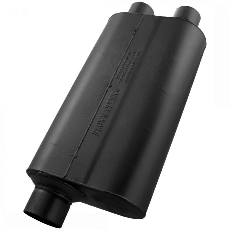 Flowmaster 530562 Super 50 Muffler - 3.00 Offset In / 2.50 Dual Out - Mild Sound Hummer H3/H3T 2006 3.5L 5-Cyl