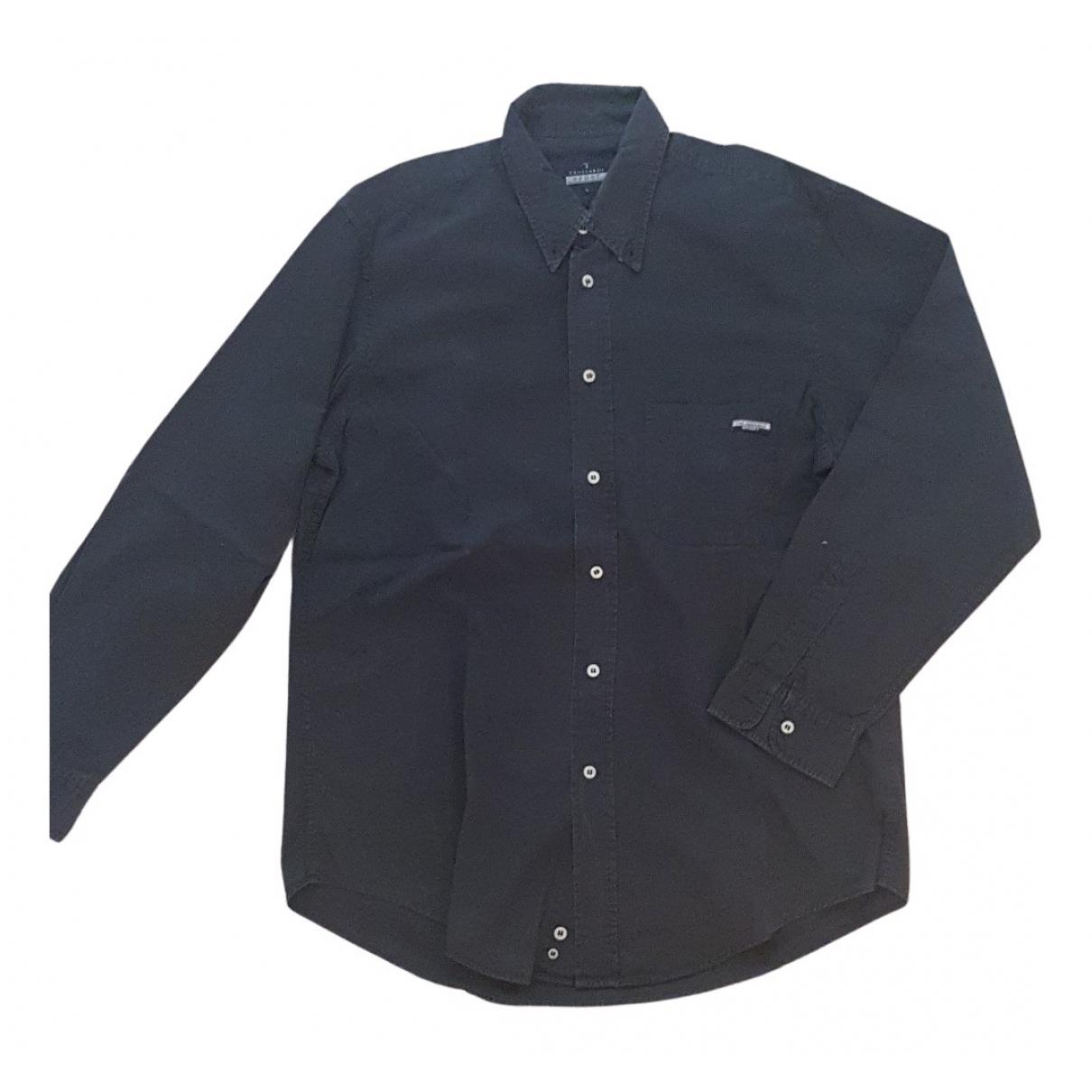 Trussardi - Chemises   pour homme en coton - noir