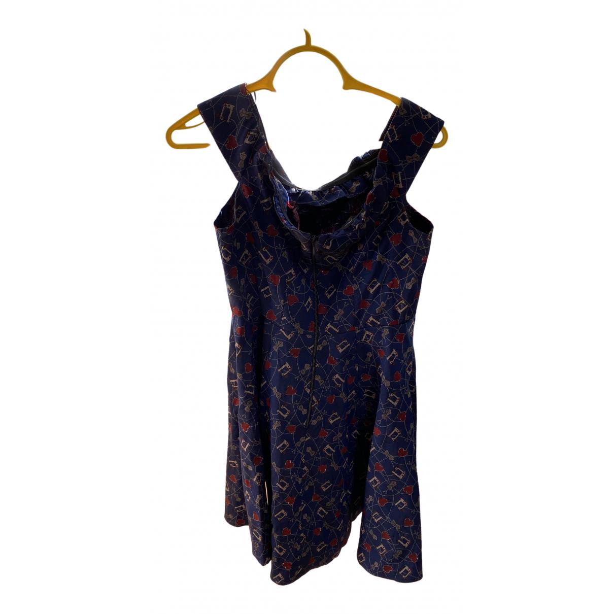 Maison Hēroine \N Kleid in  Blau Baumwolle - Elasthan
