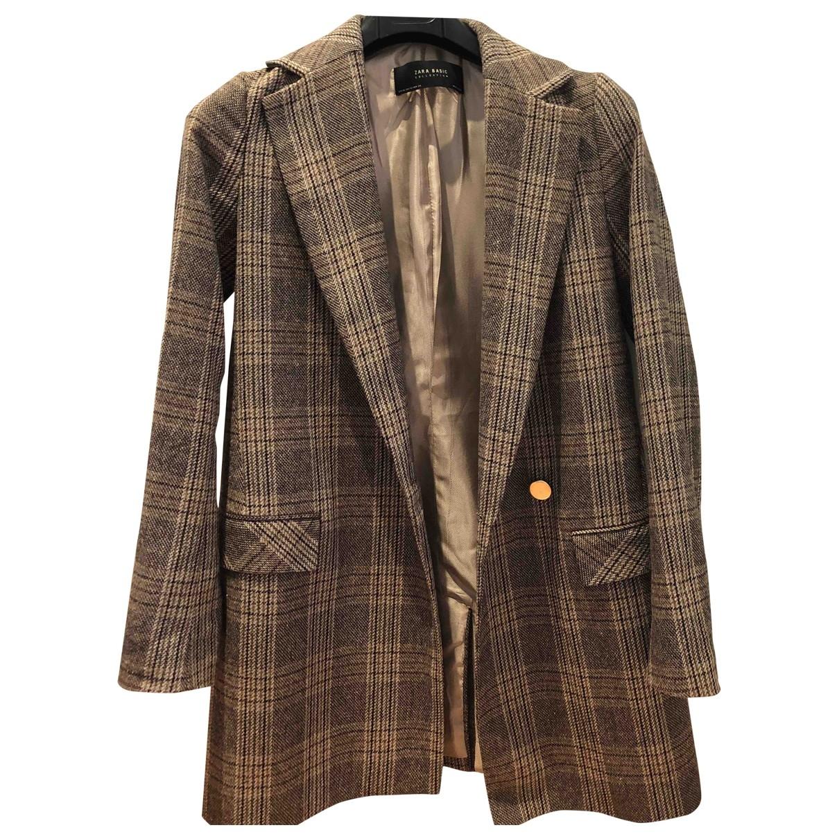 Zara \N Brown Wool jacket for Women XS International
