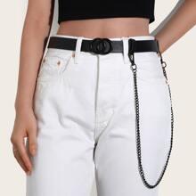 Ring Buckle Belt & Pants Chain