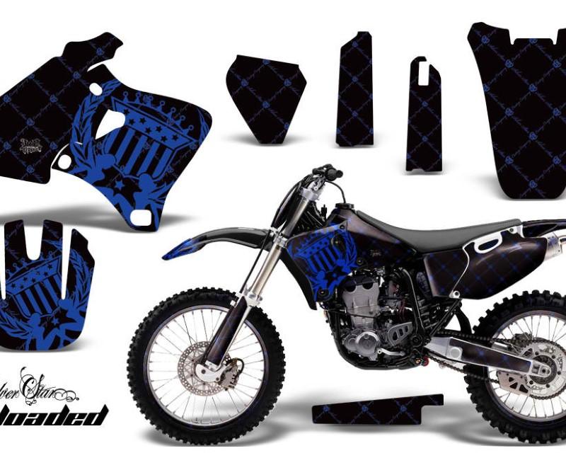 AMR Racing Graphics MX-NP-YAM-YZ 250F/400F/426F-98-02-SSR U K Kit Decal Wrap + # Plates For Yamaha YZ 250F/400F/426F 1998-2002áRELOADED BLUE BLACK
