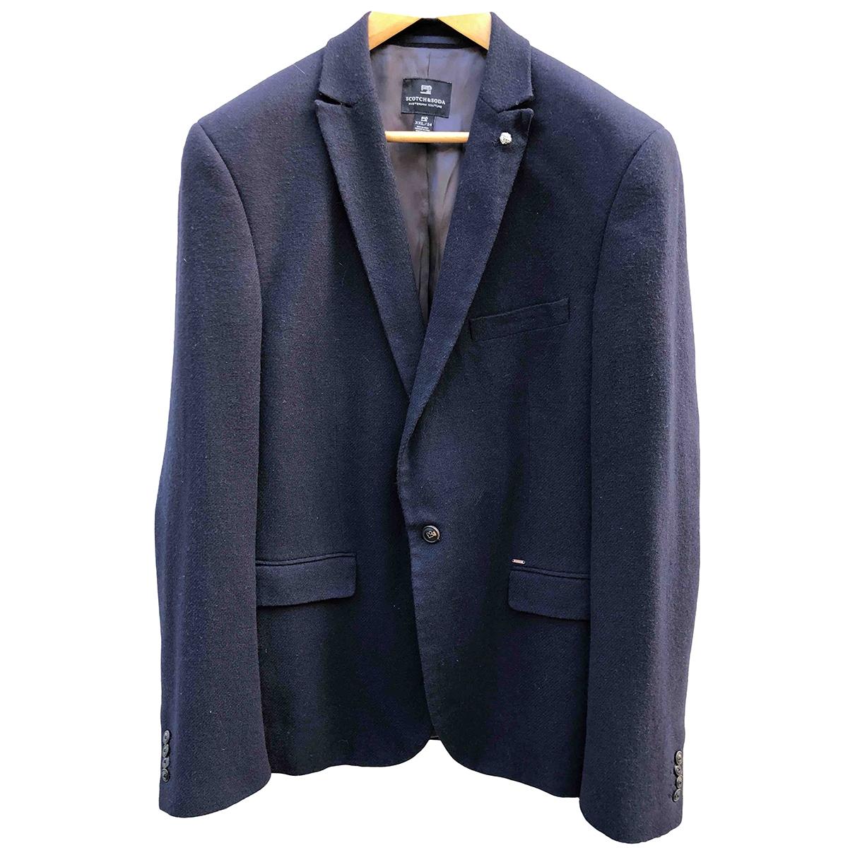 Scotch & Soda - Vestes.Blousons   pour homme en laine - bleu