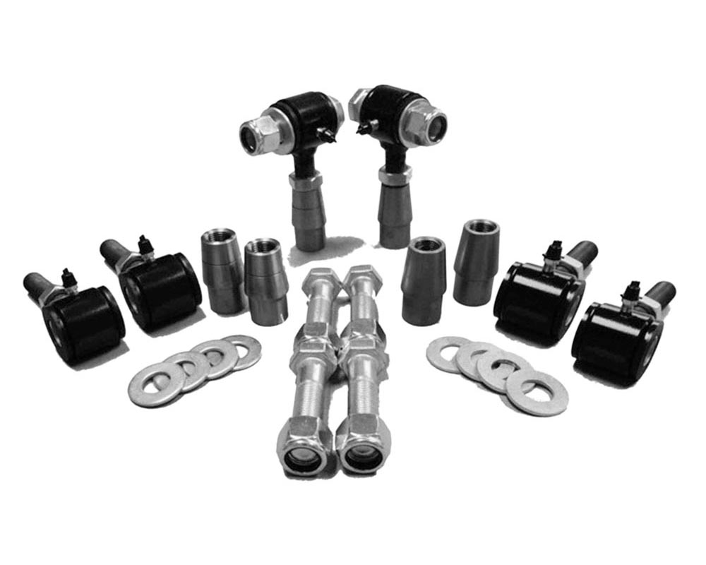Steinjager J0006713 3/4-16 RH LH Poly Bushings Kits, Male 3/8 Bore x 3.00 Wide fits 1.250 x 0.120 Tubing Black Powdercoated Bush Housing Six Poly Ends