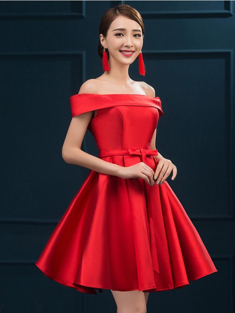 Ericdress A-Line Off-the-shoulder Short Cocktail Dress
