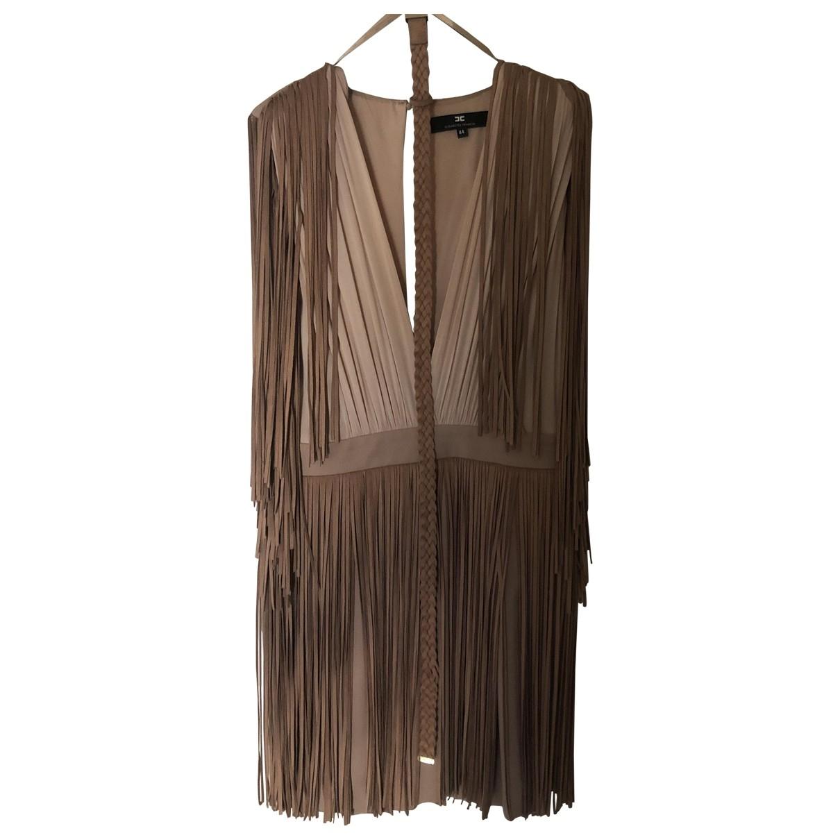 Elisabetta Franchi \N Kleid in  Beige Polyester