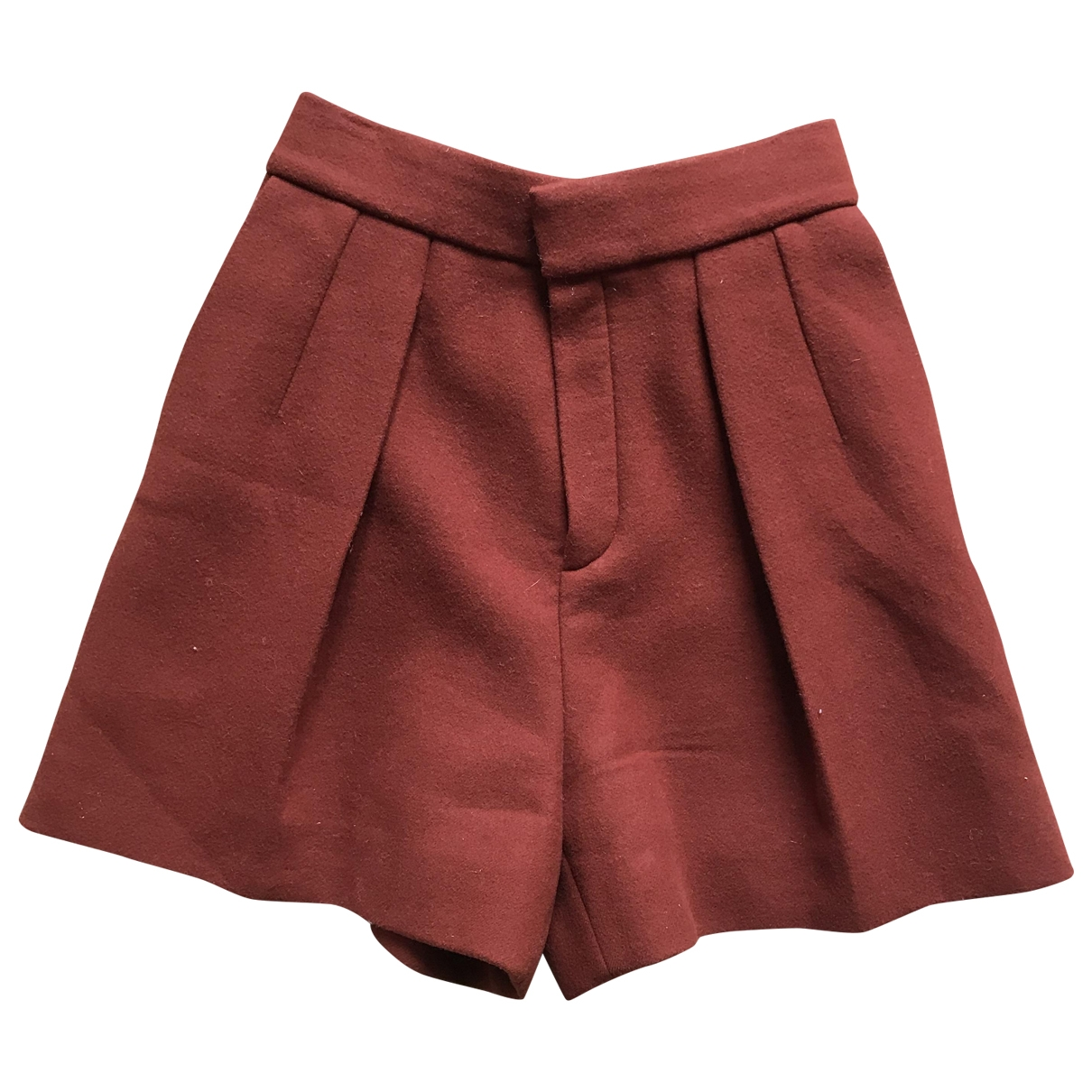 Chloé N Brown Wool Shorts for Women 38 FR