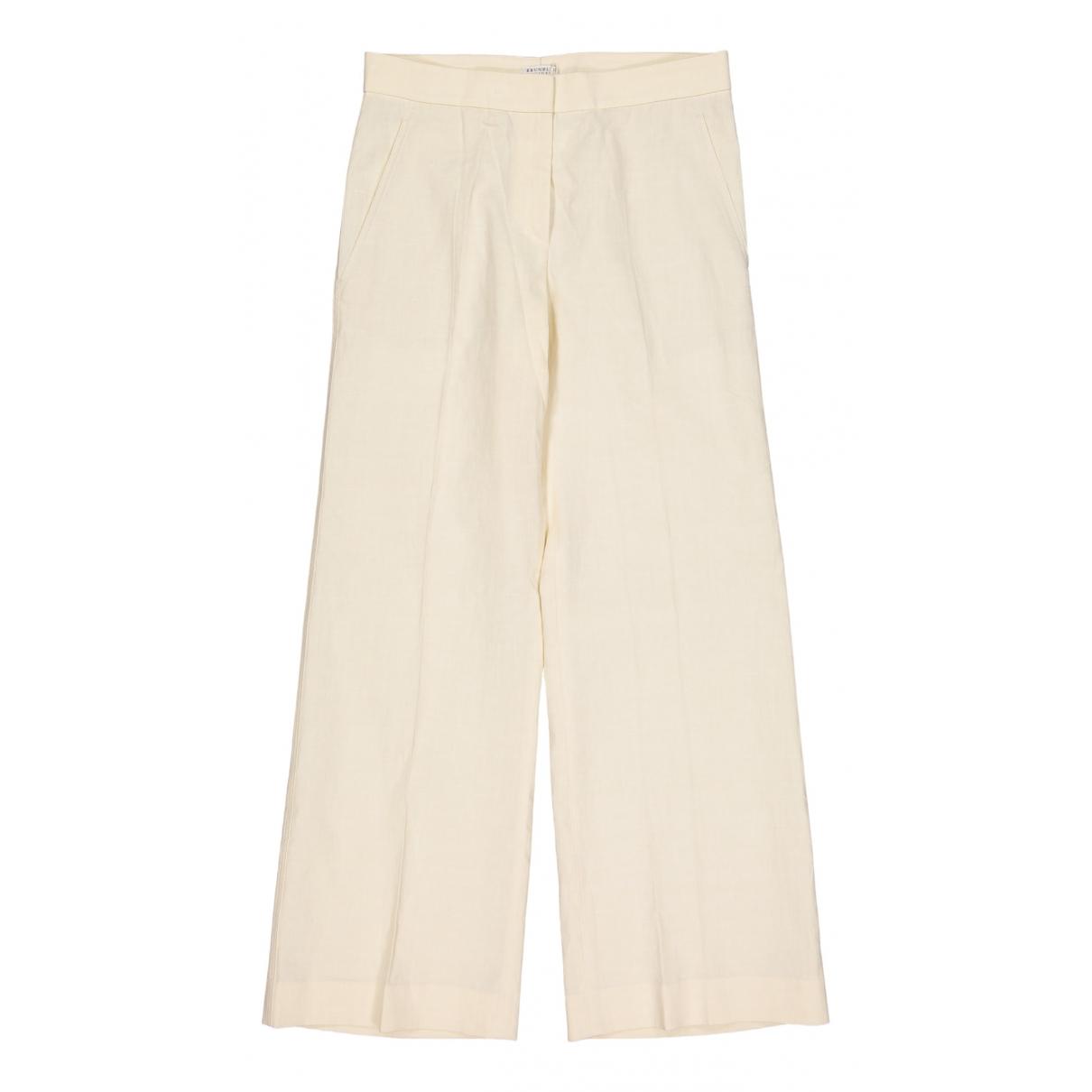 Pantalon largo de Lino Brunello Cucinelli