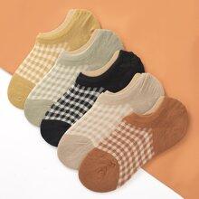 5 pares calcetines de cuadros