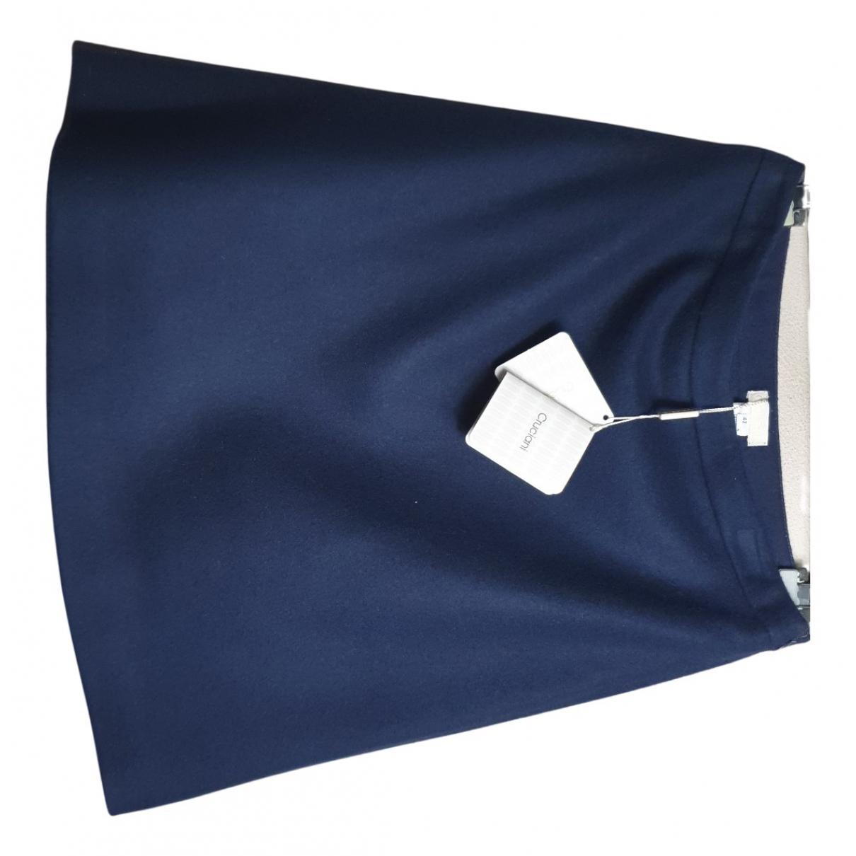 Cruciani N Blue Cashmere skirt for Women 42 IT