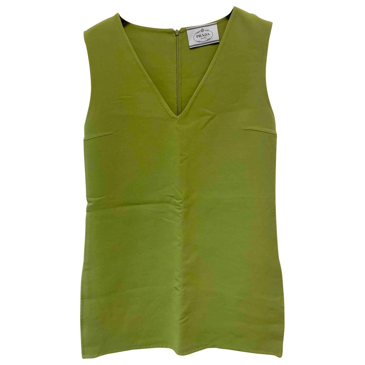 Prada - Robe   pour femme en laine - vert