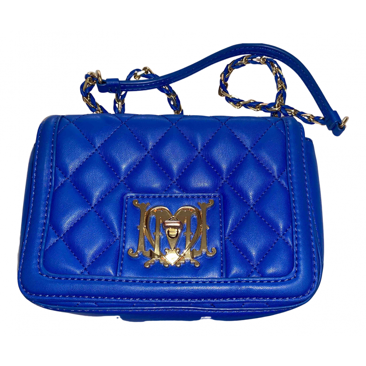 Moschino Love - Sac a main   pour femme en cuir - bleu