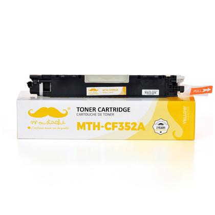 Compatible HP 130A CF352A cartouche de toner jaune - Moustache®