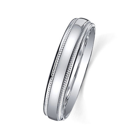 Personalized Comfort Fit 4mm Sterling Silver Wedding Band, 5 , No Color Family