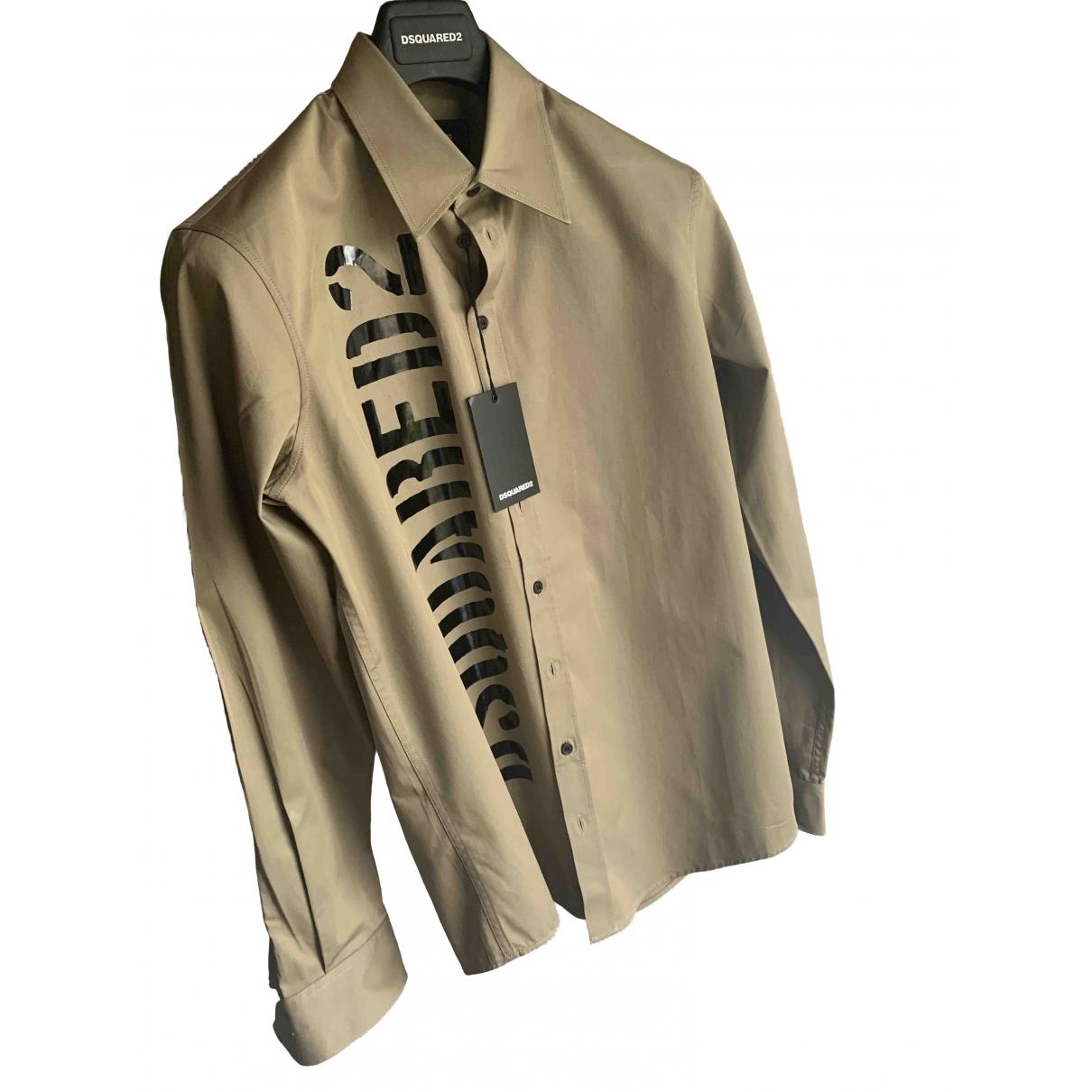 Dsquared2 \N Khaki Cotton Shirts for Men S International
