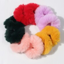 10pcs Fluffy Hair Tie