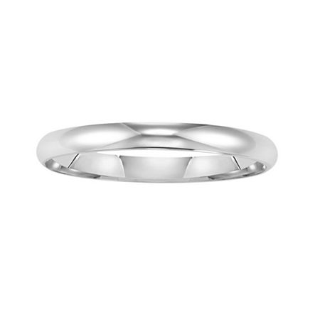 Gold Wedding Band, Womens 2mm 14K, One Size , White