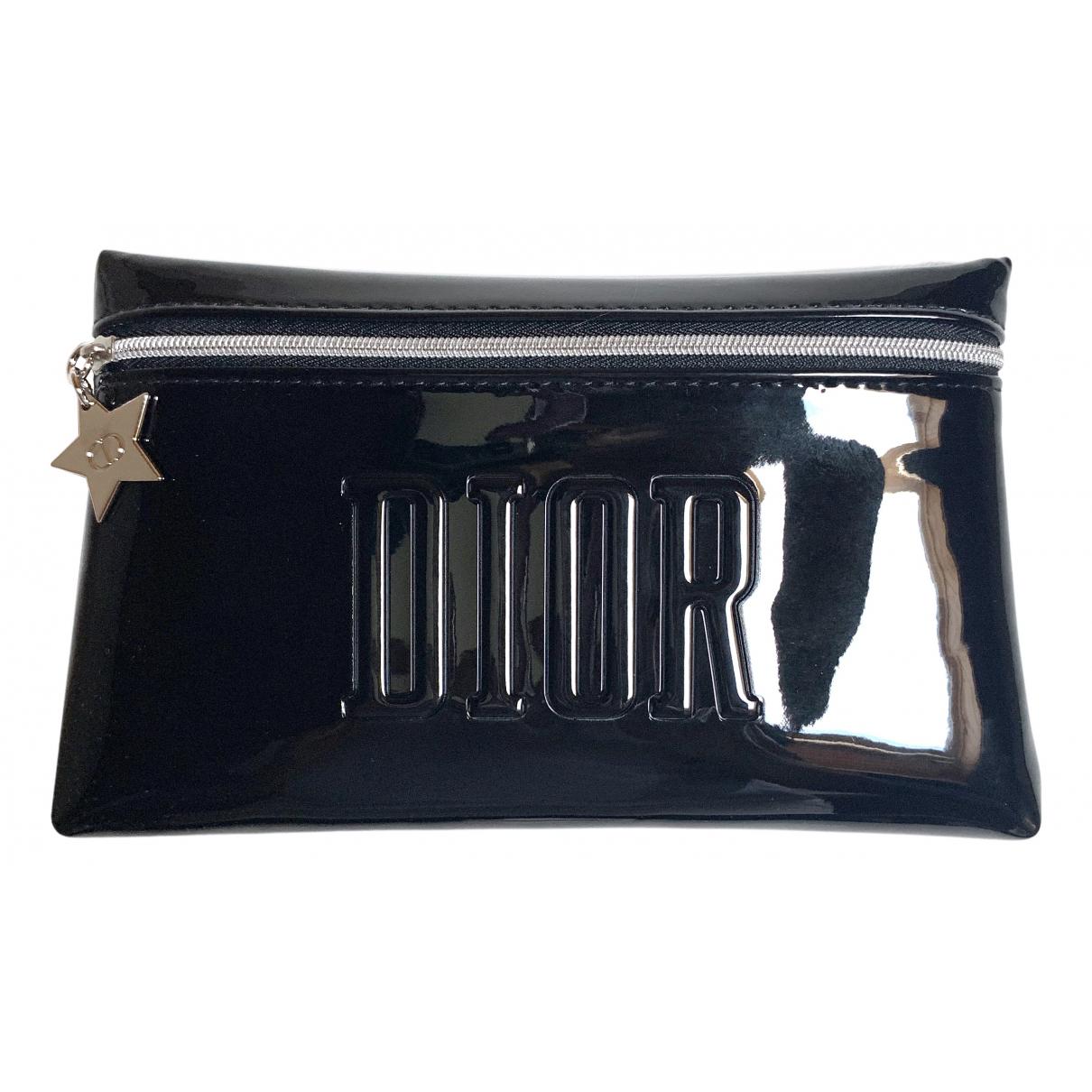 Dior - Sac de voyage   pour femme en cuir verni - noir