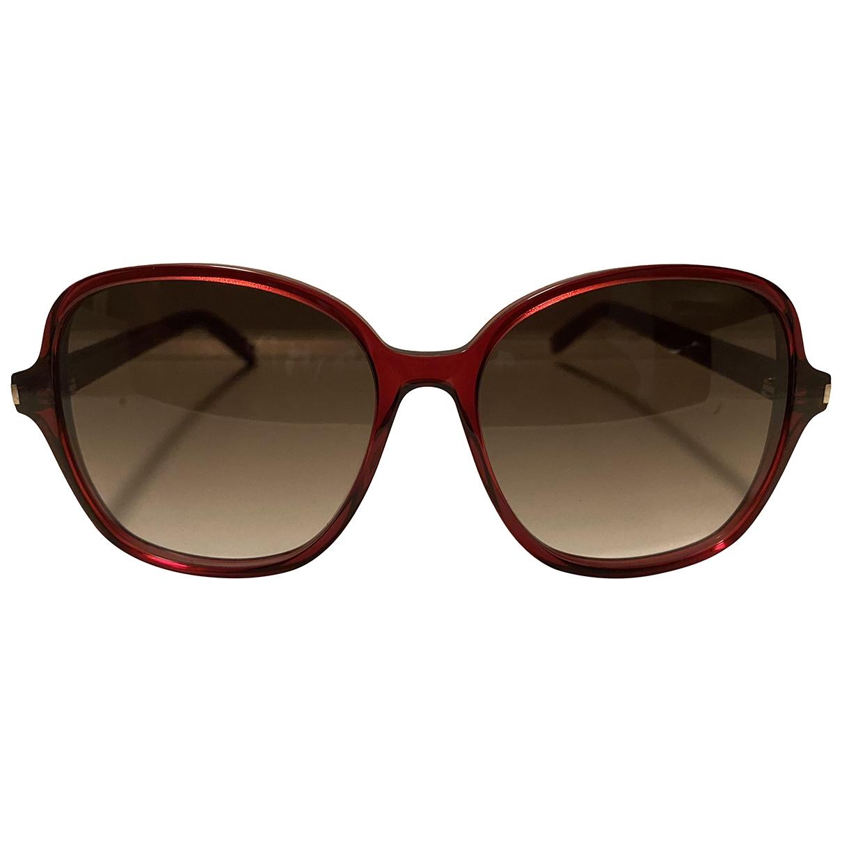 Saint Laurent \N Burgundy Sunglasses for Women \N