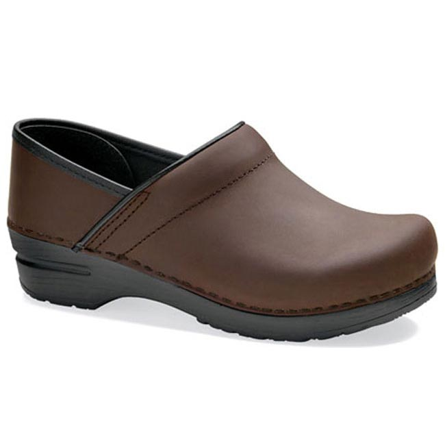 Dansko Professional Wide Antique Brown Oiled Leather 37 W