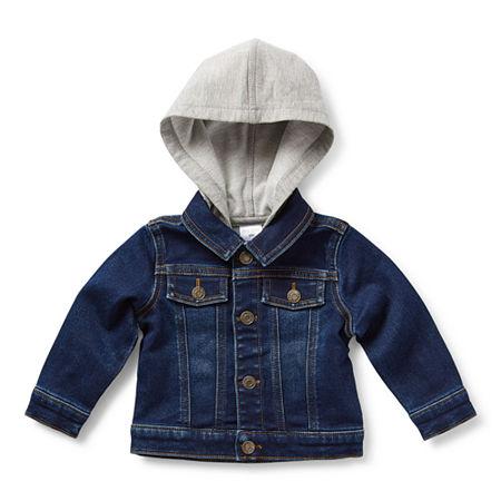 Okie Dokie Baby Boys Denim Jacket, Newborn , Blue