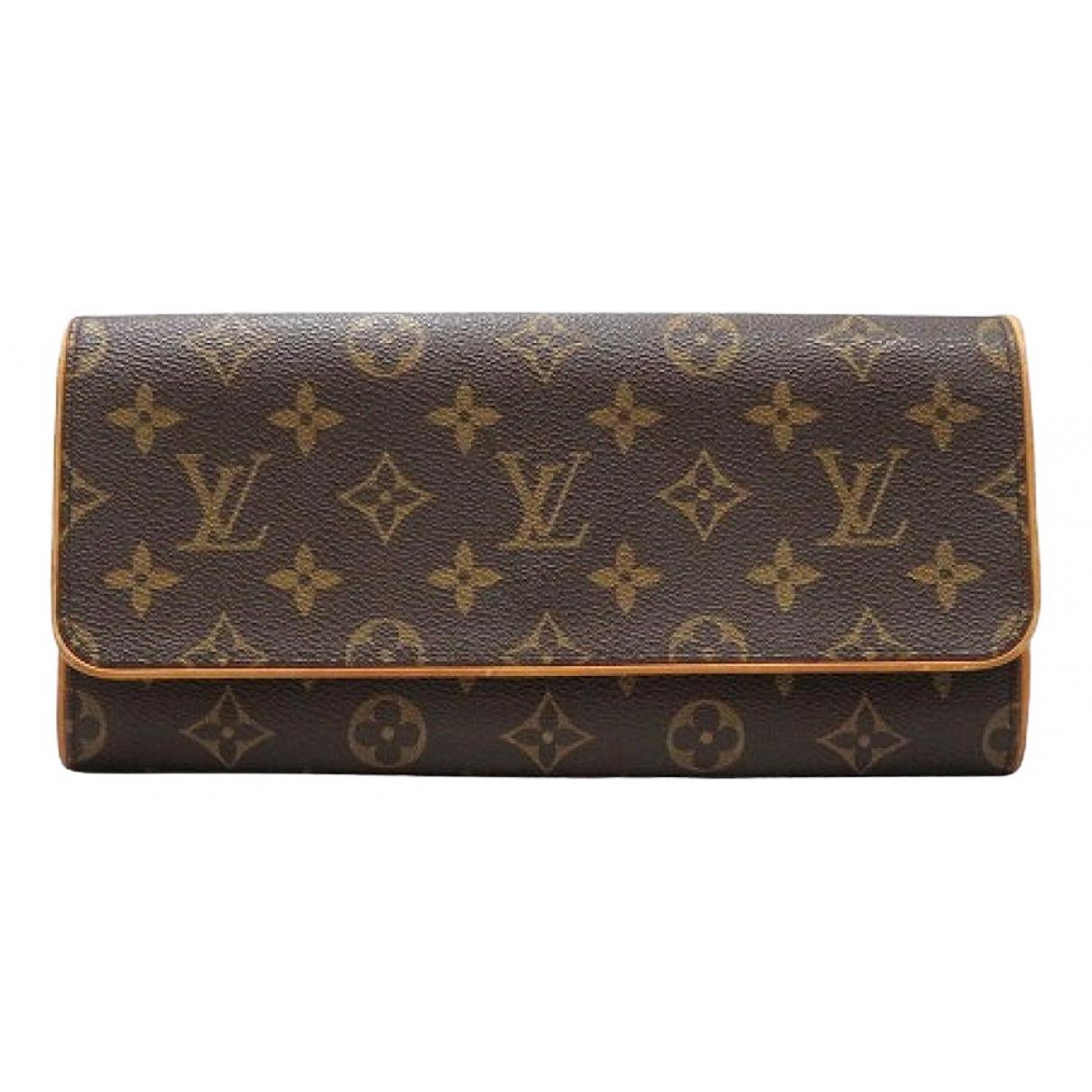 Louis Vuitton - Pochette Twin pour femme en toile - marron