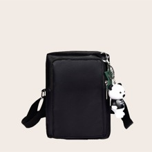 Pocket Front Crossbody Bag With Toy Charm