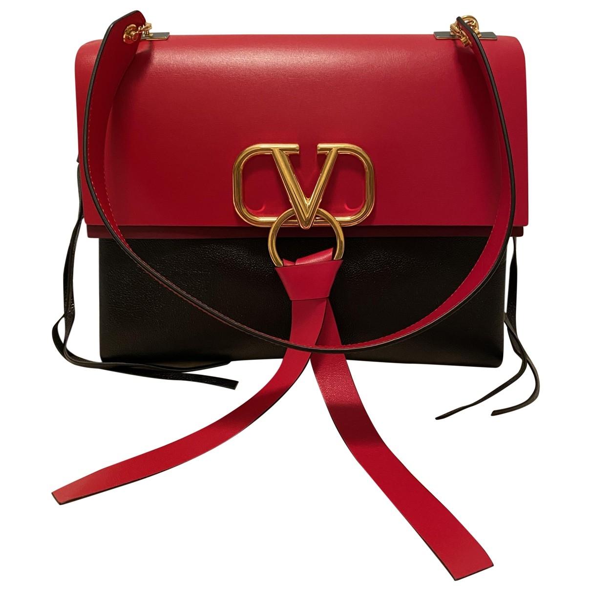 Valentino Garavani Vring Handtasche in  Schwarz Leder