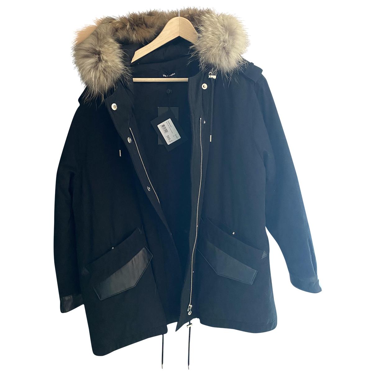 The Kooples - Manteau Fall Winter 2019 pour femme en coton - noir