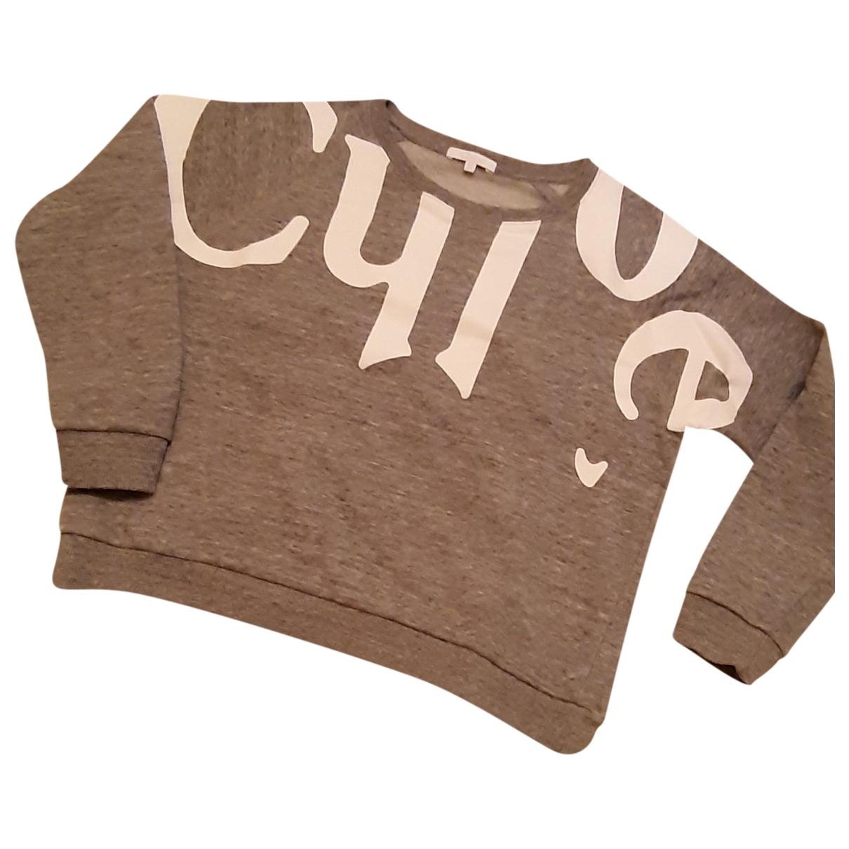 Chloe - Top   pour femme en coton - gris