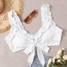 Grosse Grossen - Bikini Top mit Knoten vorn