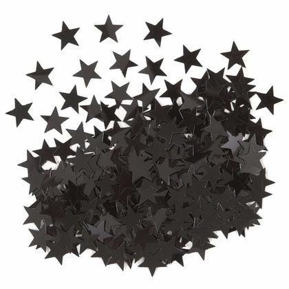 Metallic Black Foil Star Sequin Table Confetti for Party Decoration, 0.5oz