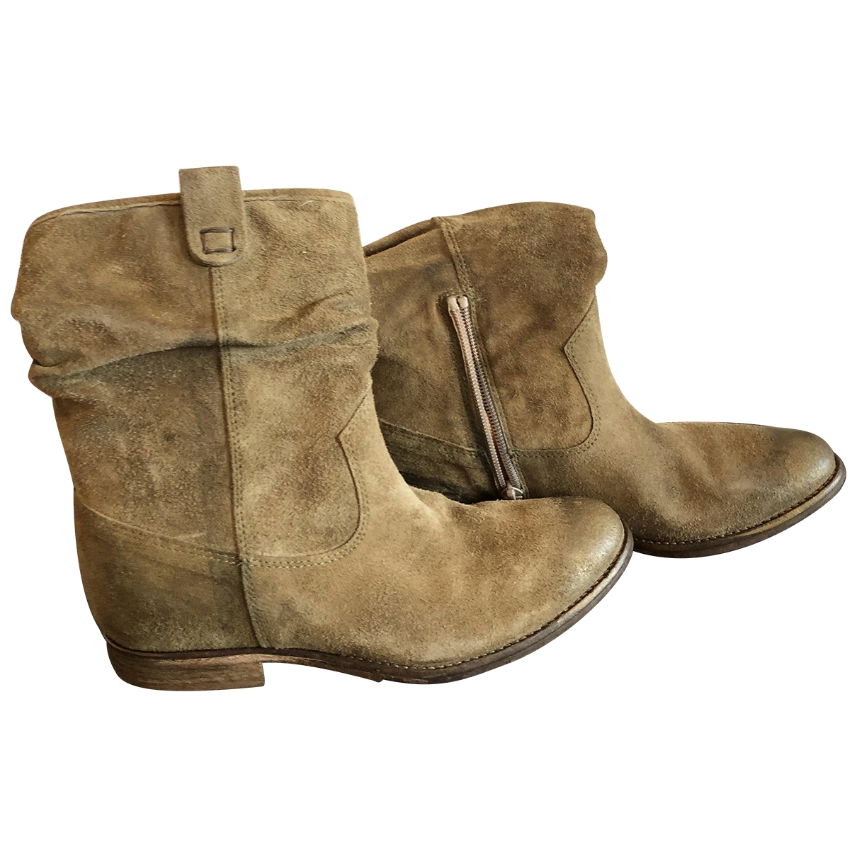 Non Signé / Unsigned \N Camel Suede Boots for Women 35 EU