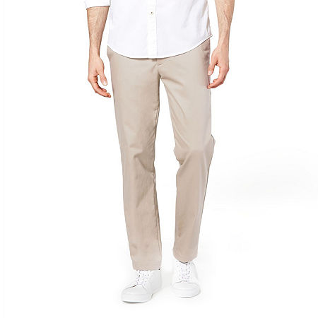 Dockers Men's Slim Fit Signature Khaki Lux Cotton Stretch Pants D1, 38 30, Beige