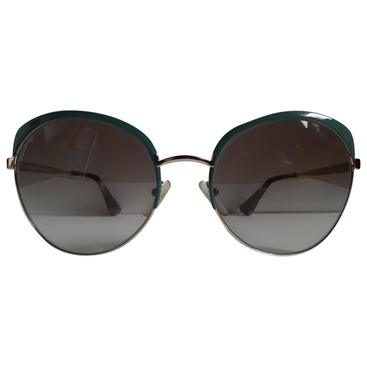 Prada \N Sonnenbrillen in  Gruen Metall
