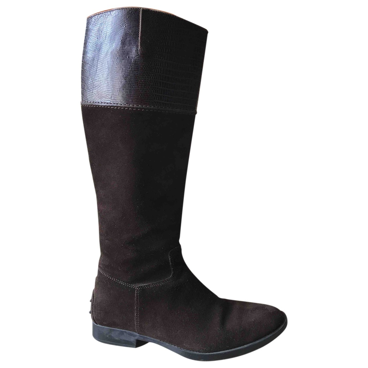Tods \N Brown Suede Boots for Women 37 EU