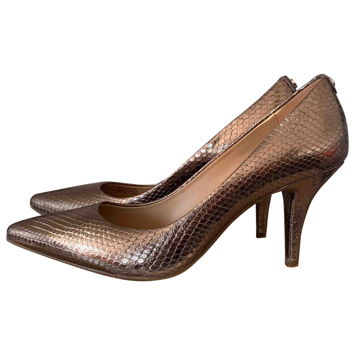Michael Kors \N Metallic Leather Heels for Women 38 EU